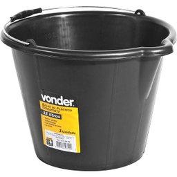 Balde de plástico extraforte 12 litros preto VONDER
