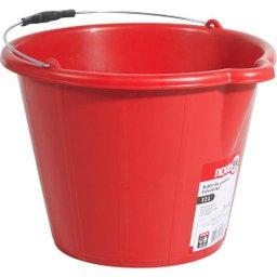 Balde de plástico extraforte 12 litros vermelho NOVE54