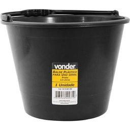 Balde plástico uso geral 12 litros VONDER