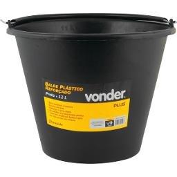 Balde plástico para concreto reforçado 12 litros VONDER PLUS