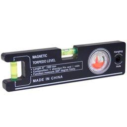 Nível Magnético Mini Profissional com Indicador de Ângulos de 360 Graus