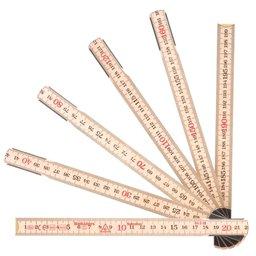 Escala Métrica Dobrável de Madeira 1m x 17,3mm com 6 Dobras MAD-5916