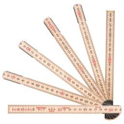 Escala Métrica Dobrável de Madeira 2m x 17,3mm com 10 Dobras MAD-59210