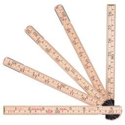 Escala Métrica Dobrável de Madeira 2m x 17,3mm com 10 Dobras MAD-61210