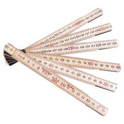 Escala Métrica Dobrável de Madeira 2m x 17,3mm com 12 Dobras MAD-59212