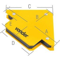 Esquadro magnético para soldador 10 kgf VONDER