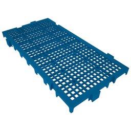 Piso Plástico Modular 250 x 500mm Azul