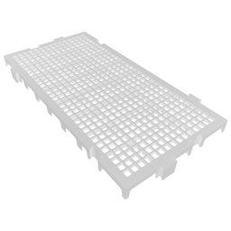 Piso Plástico Modular 250 x 500mm Branco