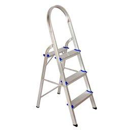 Escada de Alumínio Doméstica com 3 Degraus