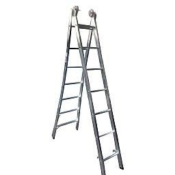 Escada Extensiva 4 em 1 2 x 7 Degraus em Alumínio