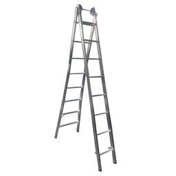 Escada Extensiva 4 em 1 2 x 8 Degraus em Alumínio