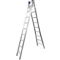 Escada Extensiva 4 em 1 2 x 9 Degraus em Alumínio