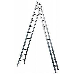 Escada Extensiva 4 em 1 2 x 10 Degraus em Alumínio