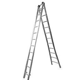Escada Extensiva 4 em 1 2 x 11 Degraus em Alumínio