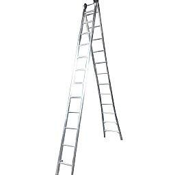 Escada Extensiva 4 em 1 2 x 12 Degraus em Alumínio