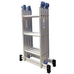 Escada Multifuncional em Alumínio 3x4 com 12 Degraus