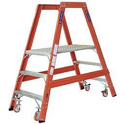 Escada Tipo Plataforma em Fibra de Vidro 3 Degraus 0,85 m