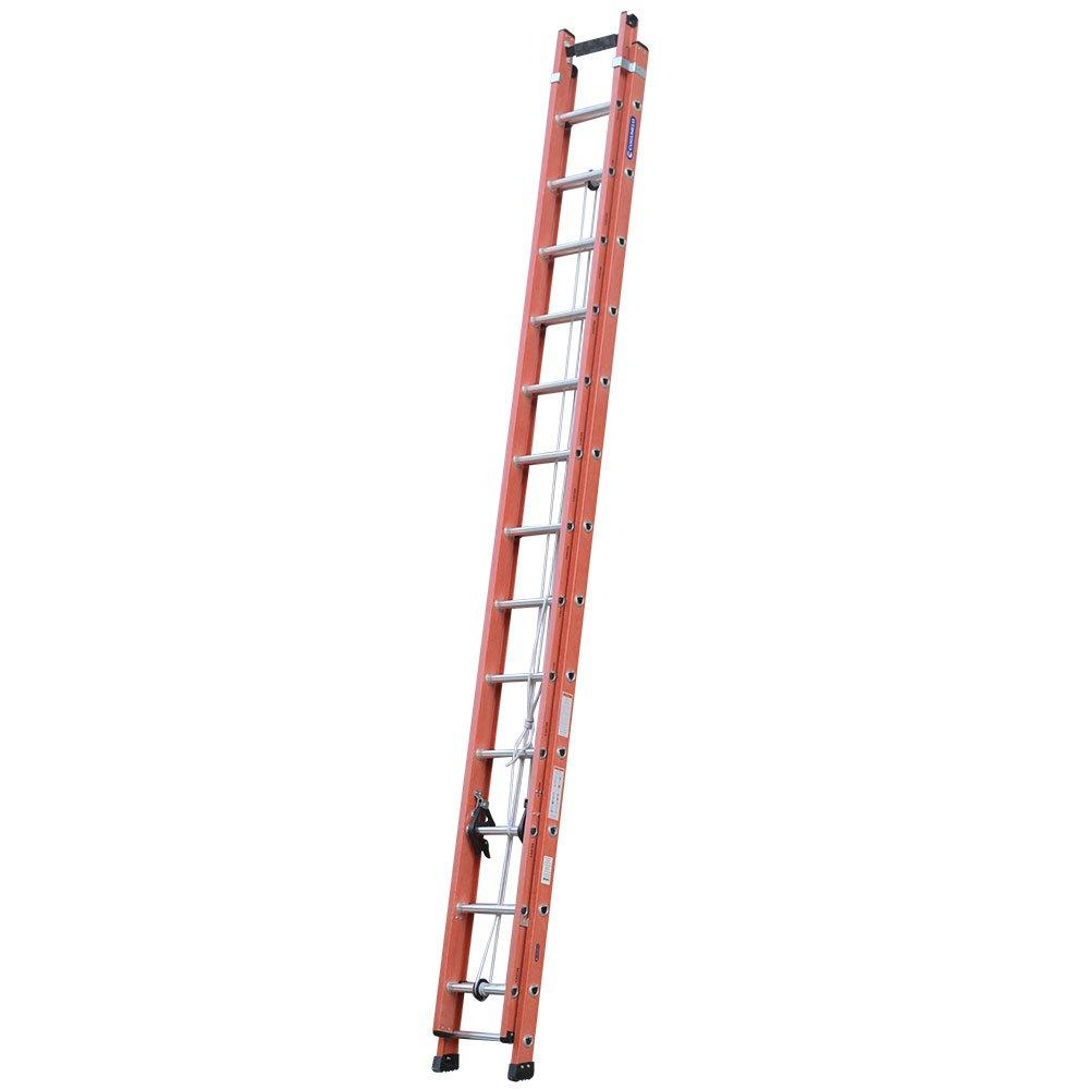 Escada Extensível Vazada 23 Degraus Úteis 4,25 x 7,20m Cor Laranja