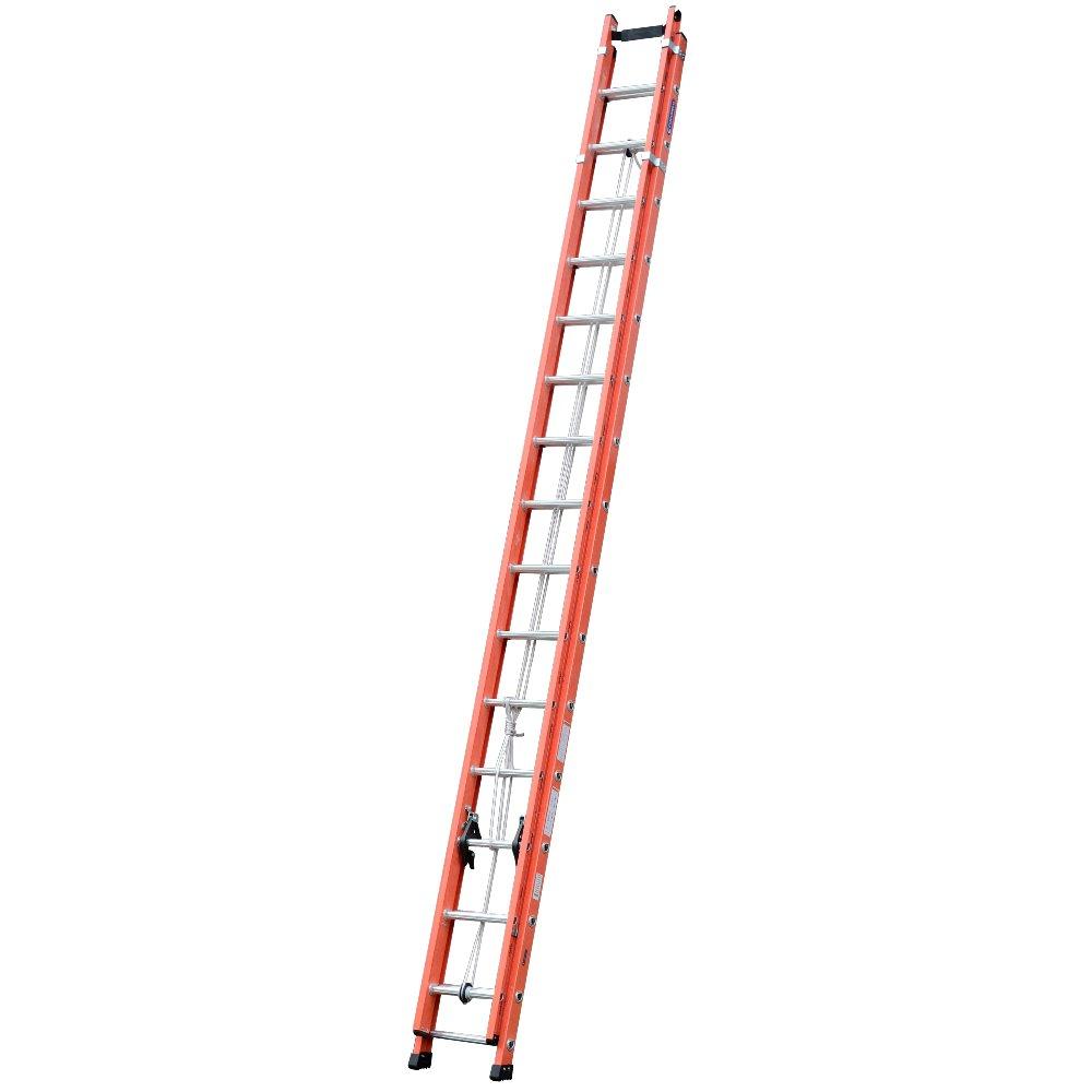 Escada Extensível Vazada Laranja 27 Degraus Úteis 4,85 x 8,4m