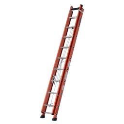 Escada Extensível Vazada 27 Degraus Úteis 4,85 x 8,4m Cor Laranja