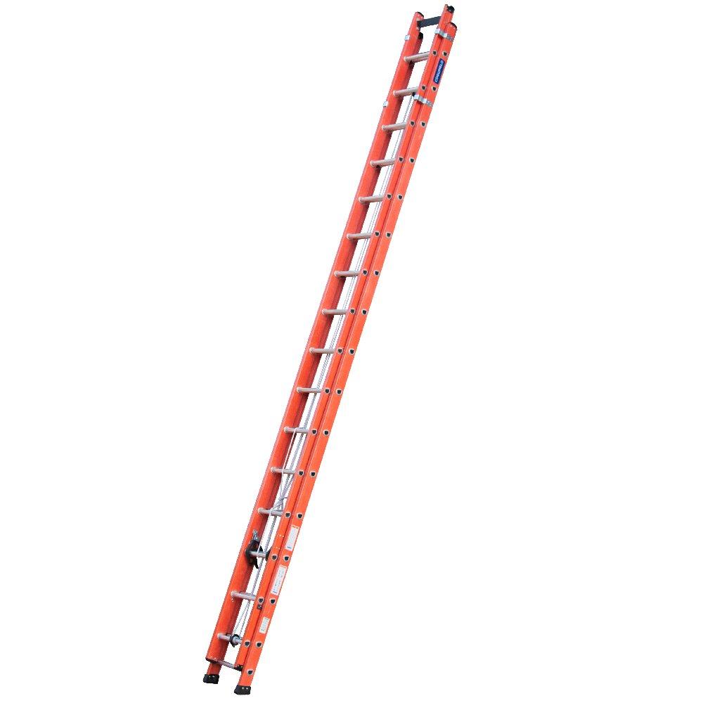 Escada Extensível Vazada Laranja 29 Degraus Úteis 5,15 x 9m