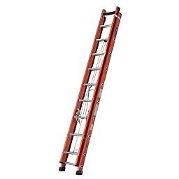 Escada Extensível Vazada 29 Degraus Úteis 5,15 x 9m Cor Laranja