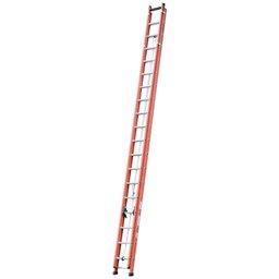 Escada Extensível Vazada 32 Degraus Úteis 5,75 x 9,9m Cor Laranja