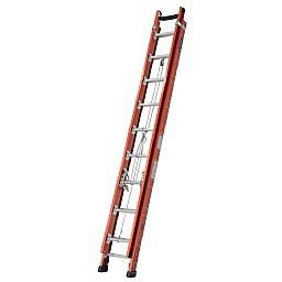 Escada Extensível Rebitada 38 Degraus Úteis 6,95 x 12m Cor Laranja