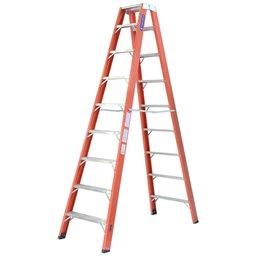 Escada Tesoura Duplo Acesso 8 Degraus Úteis 2,55m