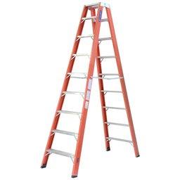 Escada Tesoura Duplo Acesso 14 Degraus Úteis 4,35m
