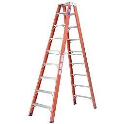Escada Tesoura Duplo Acesso 16 Degraus Úteis 4,95m