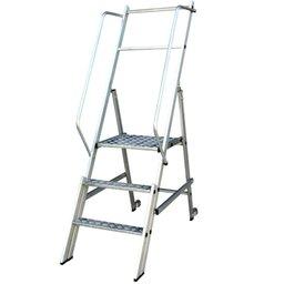 Escada Plataforma Podium 1,80m Dobrável 2 Degraus + Plataforma