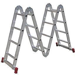 Escada Articulada 4x4 com 16 Degraus de Alumínio