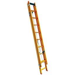 Escada Extensível Prática 15 Degraus Tipo D em Fibra 2,90 x 4,72 Metros