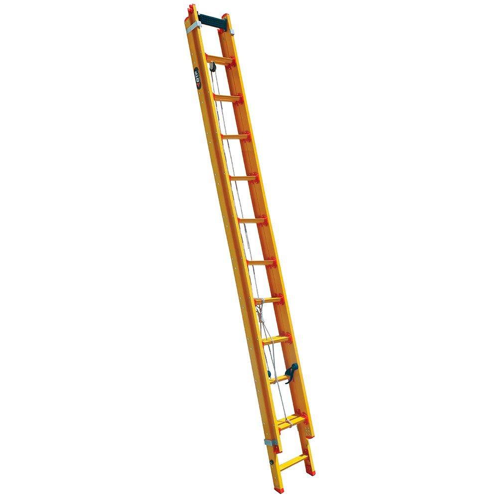 Escada Extensível Prática 17 Degraus Tipo D em Fibra 3,20 x 5,32 Metros