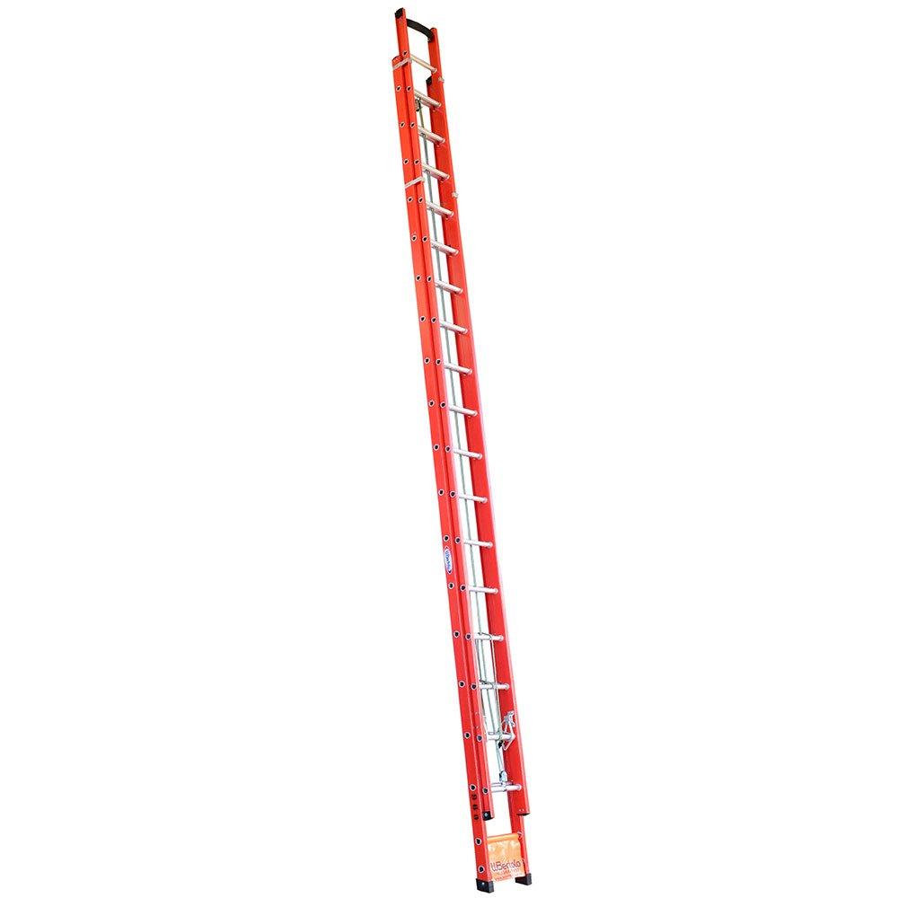 Escada Extensível Vazada em Fibra 31 Degraus 9,60 Metros
