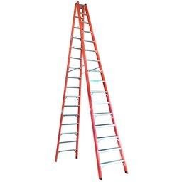 Escada Tesoura Dupla em Fibra 16 Degraus 4,80 Metros