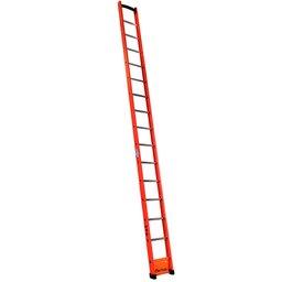 Escada Singela Vazada em Fibra 15 Degraus 4,80 Metros