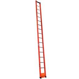 Escada Singela Vazada em Fibra 16 Degraus 5,10 Metros