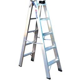 Escada Tesoura Dupla  1,50m com 5 Degraus