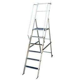 Escada Plataforma Podium 1,50m Dobrável 5 Degraus + Plataforma