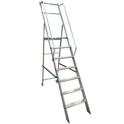 Escada Plataforma Podium 1,75m Dobrável 6 Degraus + Plataforma