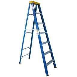 Escada Tesoura Premium em Alumínio e Fibra 7 Degraus 2,10 Metros