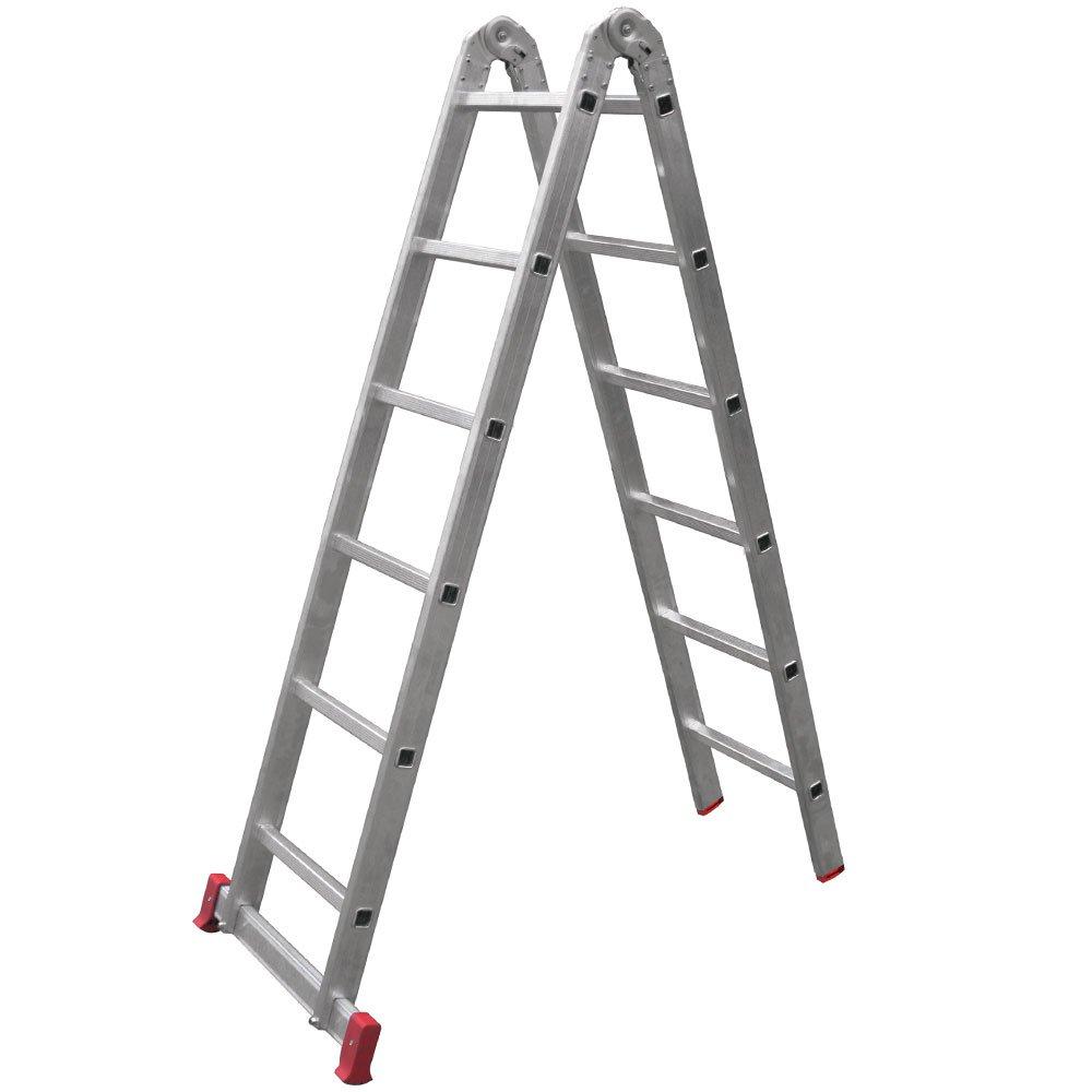Escada em Alumínio Multifunção 6 x 2 Degraus 3,39 Metros