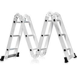 Escada Multifuncional 4x3 em Alumínio 12 Degraus com Pequena Avaria