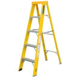 Escada Tesoura Simples em Fibra de Vidro e Alumínio 4 Degraus 1,47 Metros