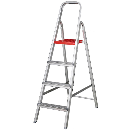 Escada Doméstica em Alumínio 4 Degraus 1,30m