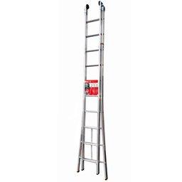 Escada Extensiva em Alumínio 3 em 1 com 20 Degraus 5,07m