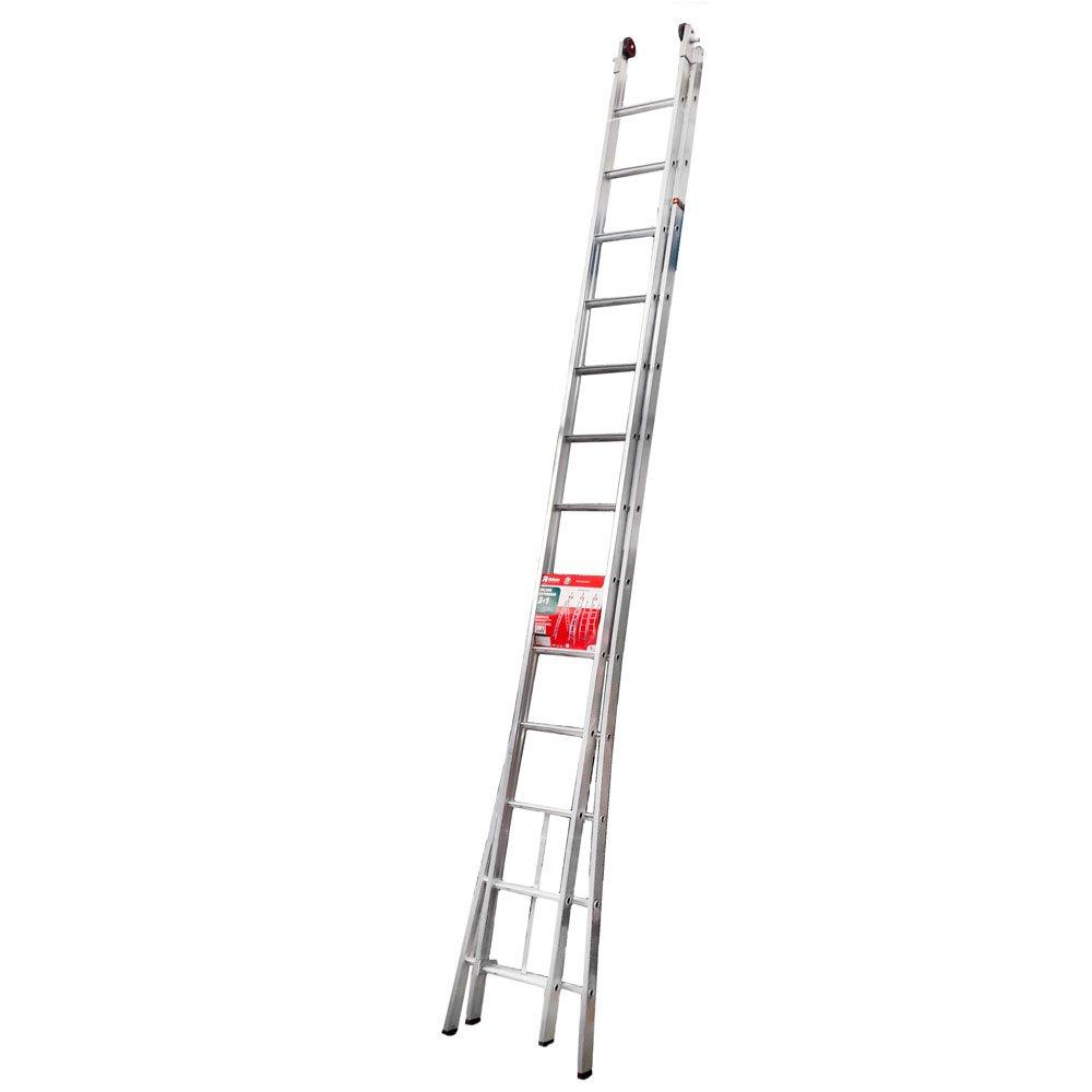 Escada Extensiva em Alumínio 3 em 1 com 26 Degraus 6,72m