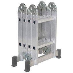 Escada Articulada em Alumínio 2 x 4 com 8 Degraus